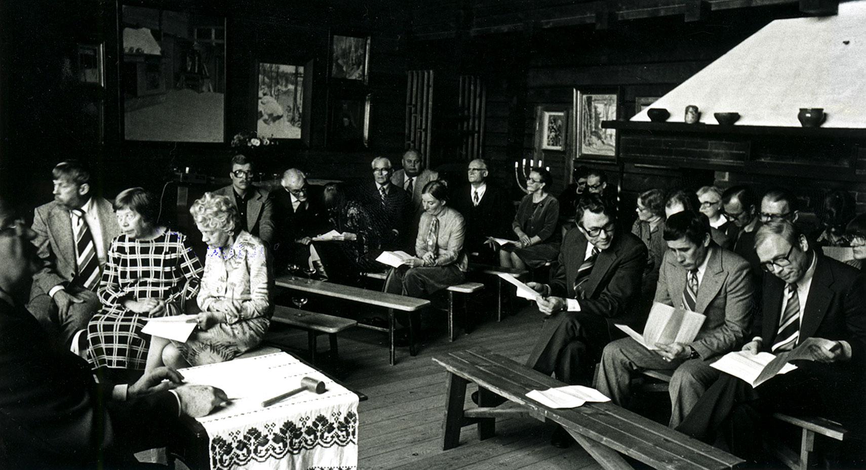 Pekka Halosen seuran perustamiskokous pidettiin Halosenniemessä 9.10.1977