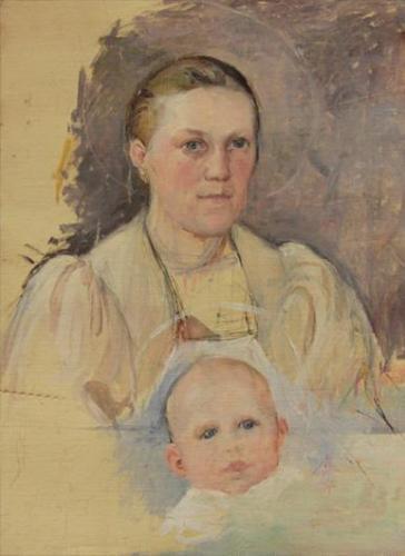 Arkisto PekkaHalonen AitiJaLapsi1899 PHS KuvaTarjaKarkkainen