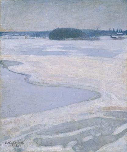PH-talvinen-järvimaisema-1927