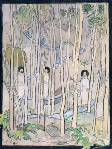 PekkaHalonen Kolmepyhäämiestämetsässä 1894 PekkaHalosenSeura KuvaMattiRuotsalainen raj